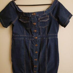 Faahion Nova denim mini dress